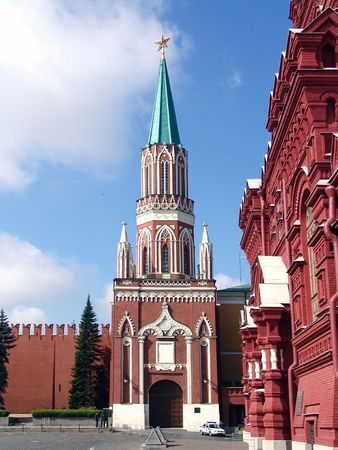 annunciation: Moscow Kremlin, tower, Moscow, Russia