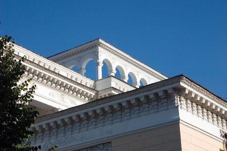 old times: la edad viejo edificio, de estilo imperio, viejos tiempos