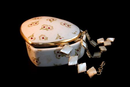 pinchbeck: small box, porcelain, small Stock Photo