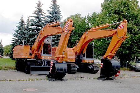 power-shovel, earth-moving machine