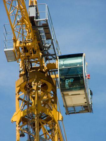 erect: crane Stock Photo
