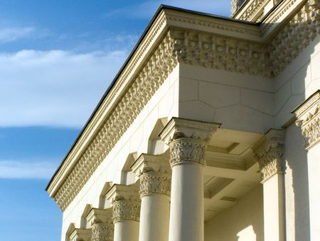 openwork: colonnade, open-work, portal, Moscow, Russia Stock Photo