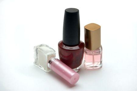 nail polish in transparent bubbles on a light background Standard-Bild