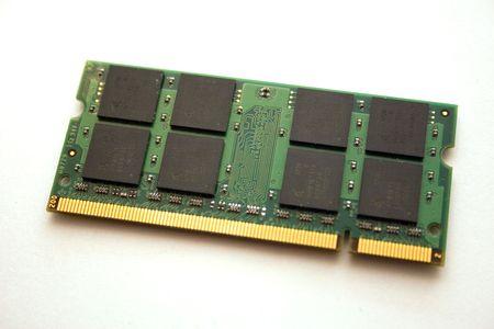 pagar la memoria principal de una computadora sobre un fondo blanco  Foto de archivo - 2175627
