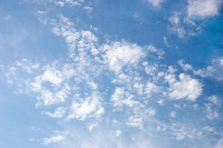 daily blue sky with white clouds Standard-Bild