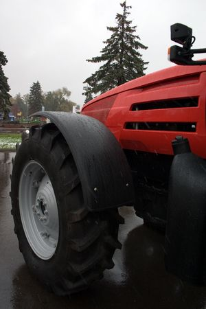 tractor on the Moscow exhibition of agricultural technique