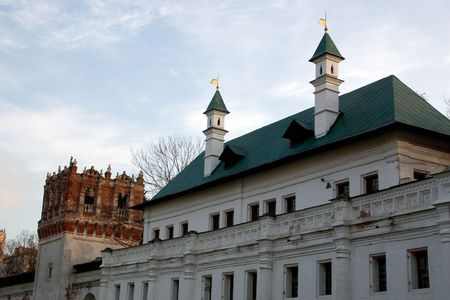 internal court of the age-old Moscow New girlish monastery