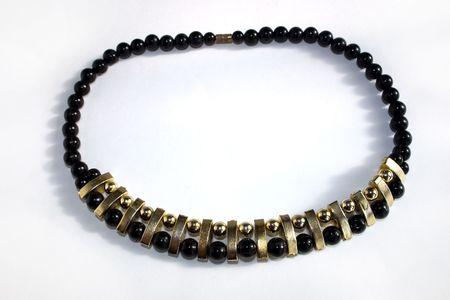 beautiful lady necklace with stone on a light background Standard-Bild