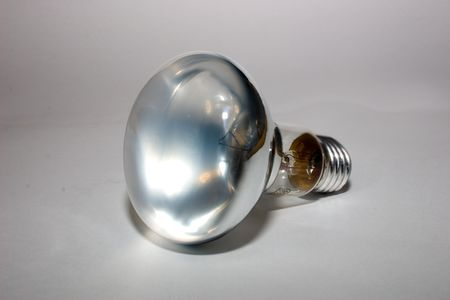 electric mirror lamp on a grey background Standard-Bild