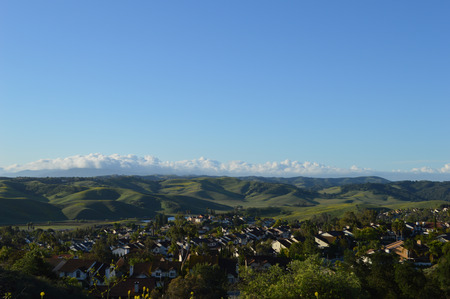 rolling hills: Rolling Hills in Chino Hills California  Stock Photo