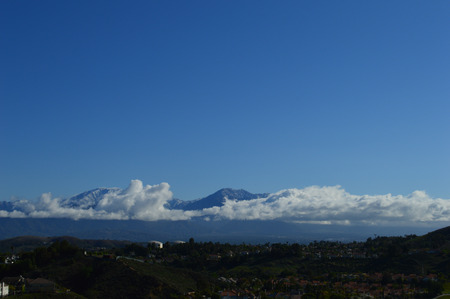 capped: San Gabriel Valley and Snow Capped Mountains