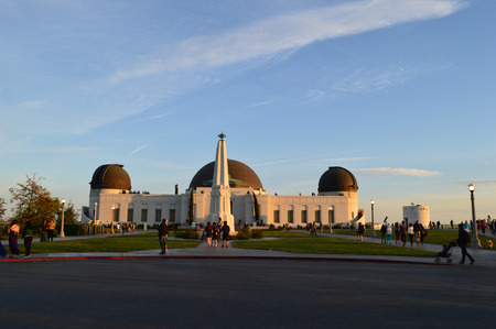 griffith: Griffith Park Observatory with People