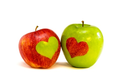two lovers apples photo
