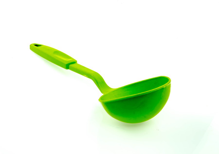 daily use item: Plastic kitchen utensils  on a white background