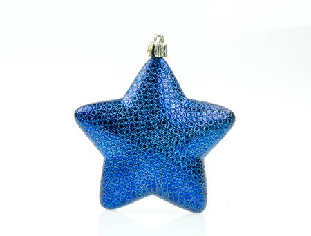 bedeck: Blue Christmas star  a white background