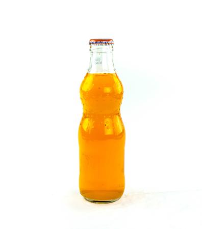 variety of soda bottle on a white background.