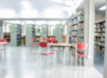 cosily: Abstract blur library interior reading room background