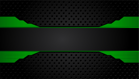 green and black geometric abstract corporate background. Vector Иллюстрация