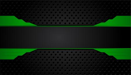 green and black geometric abstract corporate background. Vector Illusztráció