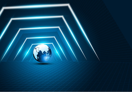 sci fi tech cyber futuristic design concept background eps 10 vector Иллюстрация