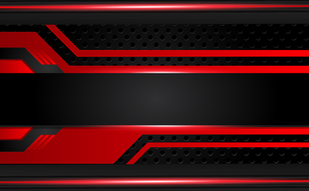 abstract metallic red black frame layout design tech innovation concept background.