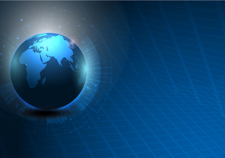 abstract world map digital texture pattern technology innovation concept background.