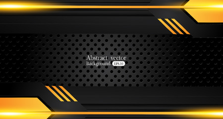 Orange yellow and black Abstract business background.Vector design
