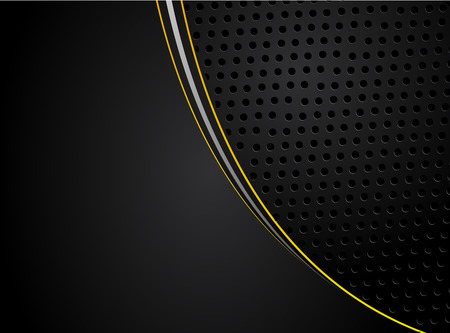 abstract metallic Yellow orange black frame design innovation concept layout background.Vector digital art Illusztráció