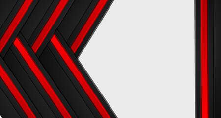 abstract metallic red black frame layout modern tech design template background
