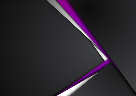 Abstract vector graphic brochure design background purple and black.Trends 2018.