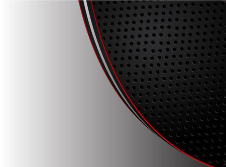 Abstract red arrow on dark gray circle mesh design modern futuristic background vector illustration. Иллюстрация