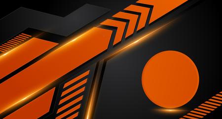 Orange and black geometric abstract corporate background. Vector Illusztráció