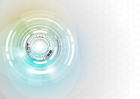 abstract technology background with hexagons.