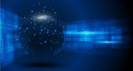 abstract tech sphere digital circuit pattern innovate concept background Vektorové ilustrace