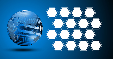 abstract tech sphere digital circuit pattern innovate concept background
