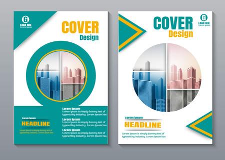 Diseño de portada de libro verde creativo.