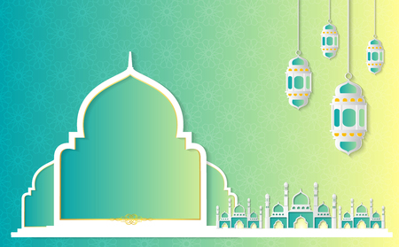 Ramadan Kareem Paper Graphic of Islamic art Vector illustration Stock Vector - 117468441