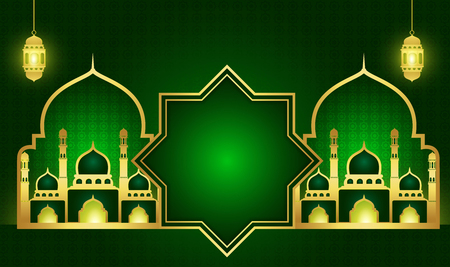 Ramadan Kareem ou Eid mubarak. Modèle de conception de papier peint. fond de salutationJe slam avec l'or à motifs.