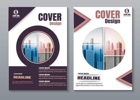 purple Creative book cover design. 向量圖像