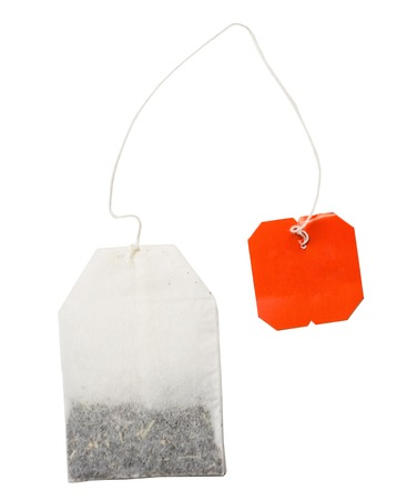 Teabag isolated on a white Stock Photo