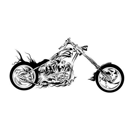 motorcycle chopper Vector