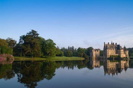 ancient castle, blue sky, Europe photo