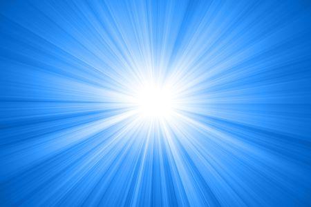 abstracte zon met stralen, zon