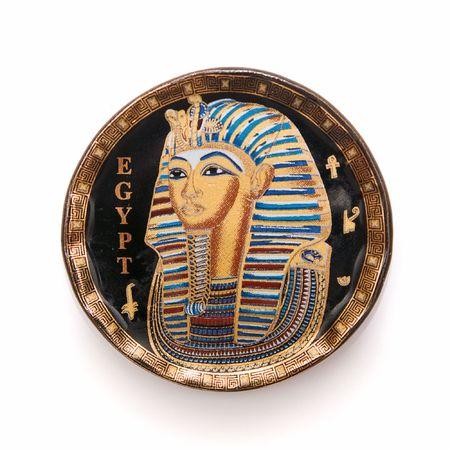 egypt plate, egypt souvenir, isolated photo