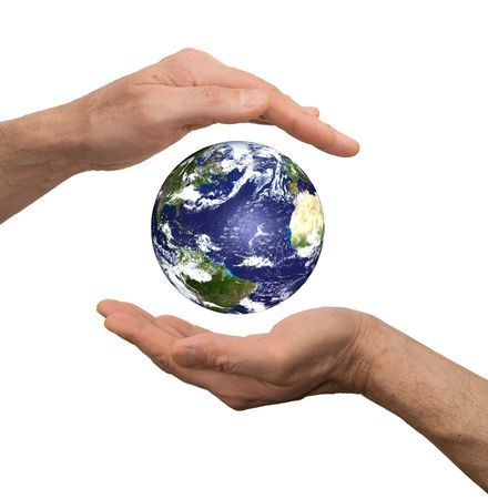 arm hold earth Stock Photo - 6711109