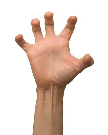 giving the finger: arm