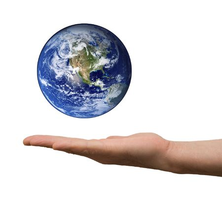 arm hold earth Stock Photo - 6710815