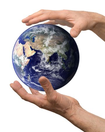 arm hold earth Stock Photo - 6711146