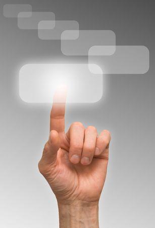 one finger Stock Photo - 6712041