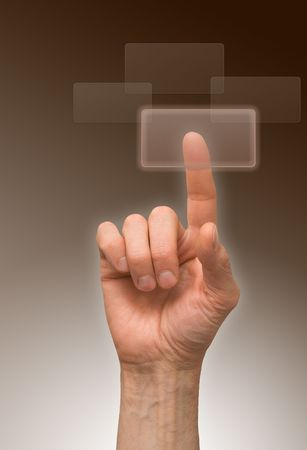 one finger Stock Photo - 6711142